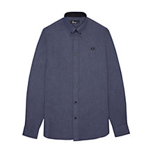 Buy Fred Perry Tape Trim Chambray Shirt, Blue Granite Online at johnlewis.com
