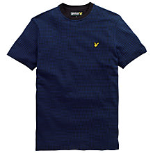 Buy Lyle & Scott Jacquard Crew Neck T-Shirt, True Black Online at johnlewis.com