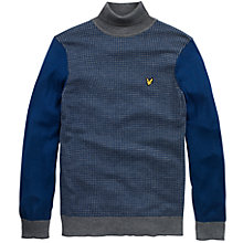 Buy Lyle & Scott Puppytooth Rollneck Jumper, Admiral Blue Online at johnlewis.com