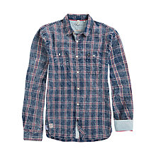 Buy Pepe Jeans Eduard Check Shirt, Indigo Online at johnlewis.com