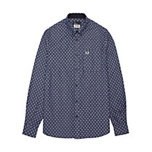 Buy Fred Perry Drake's Paisley Print Chambray Shirt, Indigo Online at johnlewis.com