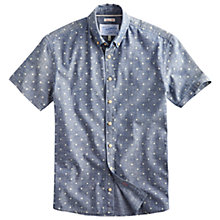 Buy Joules Lloyd Short Sleeve Chambray Print Shirt, Denim Online at johnlewis.com