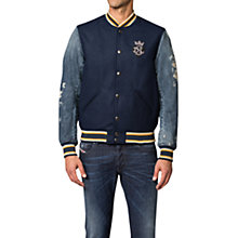 Buy Diesel J-Petro Varsity Jacket, Navy Online at johnlewis.com