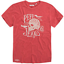 Buy Pepe Jeans Open Slub Skull T-Shirt Online at johnlewis.com