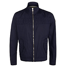 Buy BOSS Orange Odiac-W Biker Jacket, Navy Online at johnlewis.com