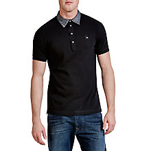 Buy Diesel T-Antho Denim Collar Polo Shirt Online at johnlewis.com