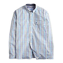 Buy Joules Hewney Tattershell Check Shirt, White/Blue Online at johnlewis.com