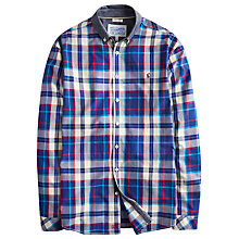 Buy Joules Lambert Chambray Collar Check Shirt, Blue Online at johnlewis.com
