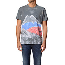 Buy Diesel T-Shino Mountain Print Crew Neck T-Shirt, Grey/Multi Online at johnlewis.com