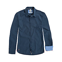 Buy Pepe Jeans Dave Jacquard Poplin Shirt, Navy Online at johnlewis.com