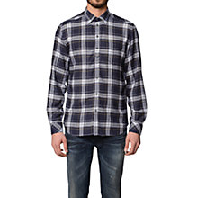 Buy Diesel S-Kinops Check Shirt, Navy Online at johnlewis.com