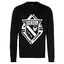Buy Diesel S-Chool Long Sleeve Sweatshirt, Black Online at johnlewis.com