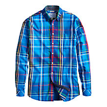 Buy Joules Lambert Check Long Sleeve Shirt, Blue Online at johnlewis.com