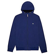 Buy Fred Perry Micro Fleece Hoody, Medieval Blue Online at johnlewis.com