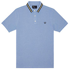 Buy Fred Perry Plain Cotton Polo Shirt, Blue Online at johnlewis.com