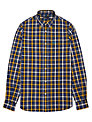 Fred Perry Herringbone Large Check Shirt, Navy
