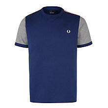 Buy Fred Perry Tape Trimmed T-Shirt, Medieval Blue Online at johnlewis.com