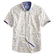 Buy Joules Lloyd Short Sleeve Lighthouse Print Shirt, Cream Online at johnlewis.com
