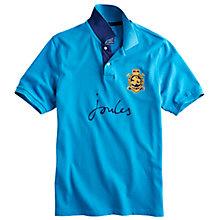 Buy Joules Kingsfield Embroidered Logo Cotton Polo Shirt, Cobalt Blue Online at johnlewis.com