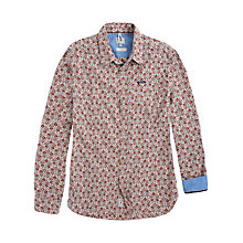 Buy Pepe Jeans Brandon Printed Cotton Poplin Shirt, Red/White Online at johnlewis.com