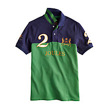 Buy Joules Latino Logo Polo Shirt, Navy/Grass Green Online at johnlewis.com