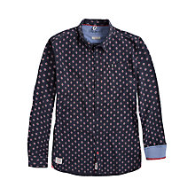 Buy Pepe Jeans Sid Printed Dobby Shirt, Summer Blue Online at johnlewis.com