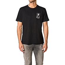 Buy Diesel T-Oke Printed Crew Neck T-Shirt, Black Online at johnlewis.com