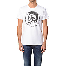 Buy Diesel T-Ulysse Mohawk Logo Cotton T-Shirt Online at johnlewis.com