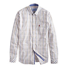Buy Joules Welford Windowpane Shirt, White/Blue Online at johnlewis.com