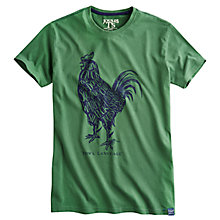 Buy Joules Cockerel Print Cotton T-Shirt, Grass Green Online at johnlewis.com