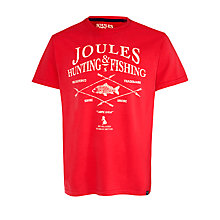 Buy Joules Hunting and Fishing T-Shirt, Burgundy Online at johnlewis.com