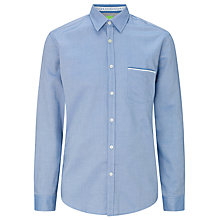 Buy BOSS Green Bayolo Long Sleeve Shirt, Blue Online at johnlewis.com