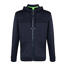 Buy BOSS Green Zip Through Hoodie, Navy Online at johnlewis.com