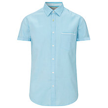 Buy BOSS Green Short Sleeve Byolo Shirt, Aqua Online at johnlewis.com