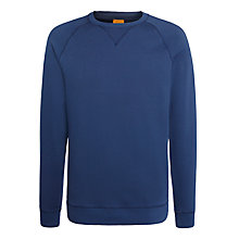 Buy BOSS Orange Wheel Cotton Sweatshirt, Navy Online at johnlewis.com