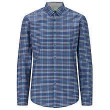 Buy BOSS Green Bissvill Check Shirt, Blue Online at johnlewis.com