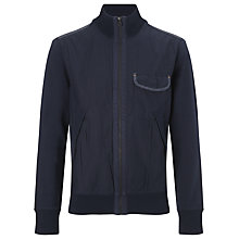 Buy BOSS Orange Zidanne 1 Cotton Sweatshirt Jacket, Navy Online at johnlewis.com