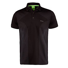 Buy BOSS Green Parsu Slim Fit Golf Polo Shirt, Black Online at johnlewis.com