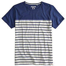 Buy Joules Skipperton Block and Stripe T-Shirt, Navy/White Online at johnlewis.com
