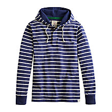 Buy Joules Shipley Breton Stripe Hoodie, French Navy Online at johnlewis.com