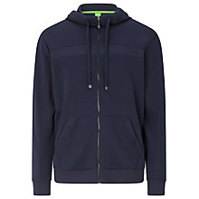 Buy BOSS Green Zip Through Sports Hoodie, Grey Online at johnlewis.com