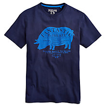 Buy Joules Brand Pig Crew Neck T-Shirt, French Navy Online at johnlewis.com