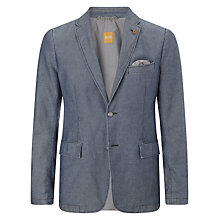 Buy BOSS Orange Benefit Cotton Blazer, Blue Online at johnlewis.com