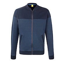 Buy BOSS Orange Ziggy Sweatshirt Jacket, Navy Online at johnlewis.com