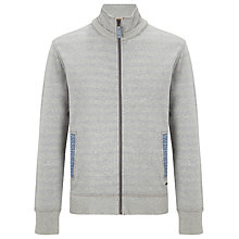 Buy BOSS Orange Zaggary Zip-Through Sweatshirt, Grey Online at johnlewis.com