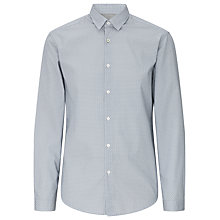 Buy BOSS Green Baldovino Geometric Print Shirt, Blue Online at johnlewis.com
