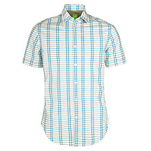 Buy BOSS Green Bastinao Short Sleeve Shirt, Aqua Online at johnlewis.com