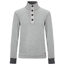 Buy BOSS Orange Whoosh Cotton Jersey Top, Grey Online at johnlewis.com