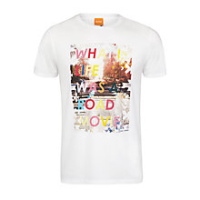 Buy BOSS Orange Tavey 2 Movie T-Shirt, White Online at johnlewis.com