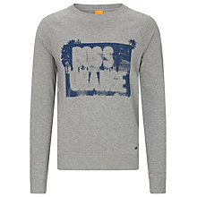 Buy BOSS Orange Wheel 1 Logo Sweatshirt Online at johnlewis.com